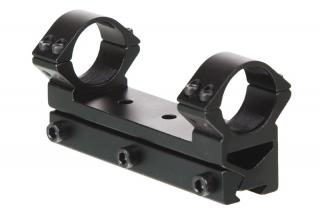 Кронштейн ZOS HQ502 (d25,4/10/h20) однопозиционный с прямой видимостью, ласточкин хвост