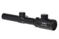 Прицел оптический ZOS HQ301 1,25-4,5х26Е пенек с точкой (загон.) R12