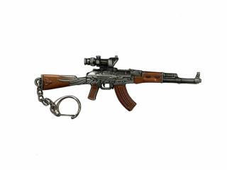 """Брелок-сувенир """"Автомат АК47"""" металл, 12см, блистер"""