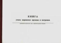 Книга ПР.74 учет перевозок оружия и патронов