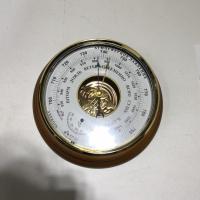 Барометр-анероид БТК-СН8 комнатный стрелочный настенный с термометром, 210ммх60мм, диаметр шкалы 163 мм УТЕС