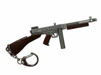 "Брелок-сувенир ""Пистолет-Пулемёт Tommy"" металл, 12см, блистер"