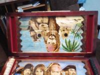 Нарды Пираты карибского моря, ручная работа, 350x700